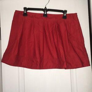 Express Red Mini Skirt w/pockets size 10